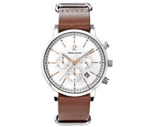 Herren Analog Quarz Uhr mit Leder Armband 207H124