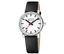 Datum klassisch Quarz Uhr mit Leder Armband MSE.35110.LB