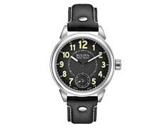 Herren-Armbanduhr Analog Handaufzug Leder 63A120