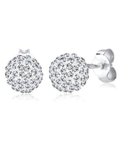Ohrstecker Klassik 925 Sterling Silber mit Kristallen von Swarovski 03201248