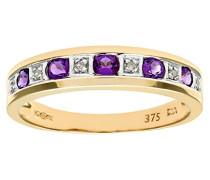 Damen-Ring 375 Gelbgold Diamant 9 Karat