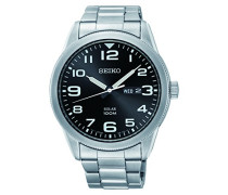 Analog Solar Uhr mit Edelstahl Armband SNE471P1