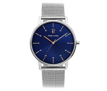 Analog Quarz Uhr mit massives Edelstahl Armband 202J168