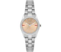Datum klassisch Quarz Uhr mit Edelstahl Armband R4253101517