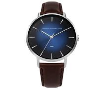 Datum klassisch Quarz Uhr mit Leder Armband FC1306UT