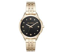 Analog Quarz Uhr mit Edelstahl Armband KL3010