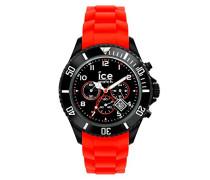 ICE Chrono Black Red - Rote Herrenuhr mit Silikonarmband - 013706 (Large)