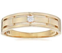 Ring 375 Gelbgold 9 K Oxyde de Zirconium R1638Y-L