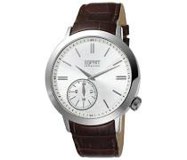 Collection Armbanduhr Helio Analog Quarz Leder EL101021F02