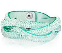 Armband Edelstahl Stoff Glas Weiß 19 cm - 609170331