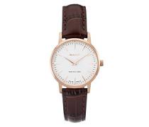 Damen Armbanduhr Analog Quarz Leder W11402