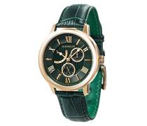 Cornwell Sweep Second Retrograde ES-8060-02 Armbanduhr mit Quarzuhrwerk, grünes Zifferblatt mit klassischer Analoganzeige
