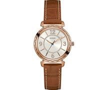 Erwachsene Datum klassisch Quarz Uhr mit Leder Armband W0833L1