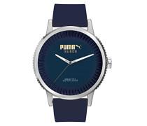 Armbanduhr 10410 SUEDE - DENIM BLUE Analog Quarz Silikon PU104101003