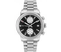 Chronograph Quarz Uhr mit Edelstahl Armband P10033
