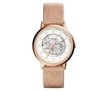 Skeleton Mechanik Smart Watch Armbanduhr mit Leder Armband ME3152