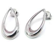 Halskette aus Sterling Silber Ohrstecker Tropfenform der Länge 5