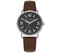 Datum klassisch Quarz Uhr mit Leder Armband FC1312ET