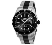 25819 Pro Diver Uhr Edelstahl Quarz schwarzen Zifferblat