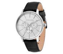 Multi Zifferblatt Quarz Uhr mit Leder Armband 14999JS/04