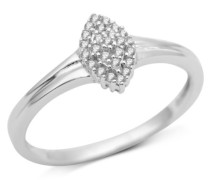 Ring 9 Karat (375) Weißgold Diamant 54 (17.2) SA931R4