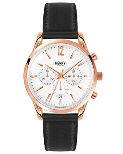 Chronograph Quarz Uhr mit Leder Armband HL39-CS-0036