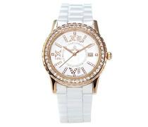 Armbanduhr Analog Quarz Premium Keramik Diamanten - STM15E8