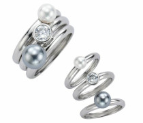 Damenringset 925 Sterling Silber Ringgröße: 56 360270617-056