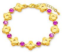 Armband 16+4cm Längenverstellbar Blumen gelbvergoldet Swarovski Kristalle