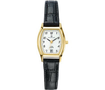 Damen-Armbanduhr Analog Quarz Leder 646502