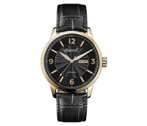 Datum klassisch Automatik Uhr mit Leder Armband I00203