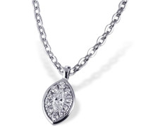 Halskette Glamour Eye 585 Weißgold 10 Brillanten 0,05 ct. SI/H 1 Diamant 0