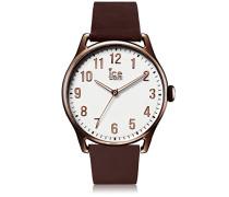 ICE time Brown White - Braune Herrenuhr mit Lederarmband - 013047 (Large)