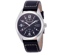Analog Quarz Uhr mit Leder Armband H68551733