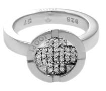 Ring mit Zirkonia braun 925 Sterling Silber