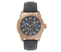Datum klassisch Quarz Uhr mit Leder Armband NAPSTL003