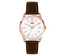 Erwachsene Analog Quarz Uhr mit Leder Armband HL39-S-0028