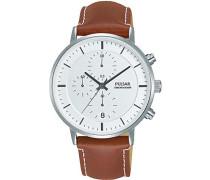Herren-Armbanduhr Analog Quarz Leder PM3077X1