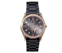 Armbanduhr Analog Quarz Premium Keramik Diamanten - STM15M6