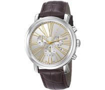 Armbanduhr Couronnes Chronograph Quarz Leder Swiss Made