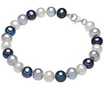 Armband 925 Silber rhodiniert Perle Süßwasser-Zuchtperle 21 cm - 609210192