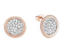 runde Ohrringe rosévergoldet mit Kristallen von Swarovski