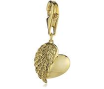 Charm Herz Flügel 925 Silber teilvergoldet - ERC-HEARTWING-G