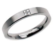Damen-Ring Titan 4 Brillianten 0,02