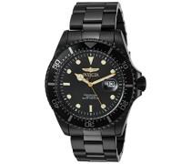 23402 Pro Diver Uhr Edelstahl Quarz schwarzen Zifferblat