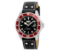 22073 Pro Diver Uhr Edelstahl Quarz schwarzen Zifferblat
