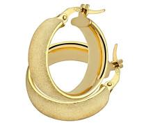 Damen-Ohrringe Creole 9 Karat 375 Gelbgold AR046Y