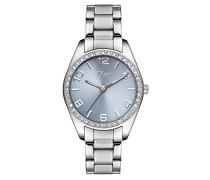 Time Zeitlernuhr Quarz Uhr mit Edelstahl Armband SO-3370-MQ