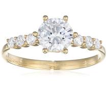 Ring 9 K 375 Gelbgold Oxyde de Zirconium R1635Y-M