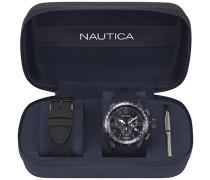 Analog Quarz Uhr mit Silikon Armband NAPGLY001